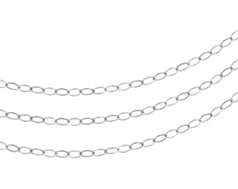 Sterling Silver 2.2 x 1.7mm Flat Cable Chain - 100ft (2353-100)/1