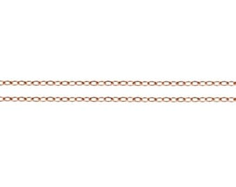 14Kt Rose Gold Filled 1.9x1.4mm Flat Cable Chain - 5ft (4811-5)  Made in USA 10% discounted lowest price wholesale quantity