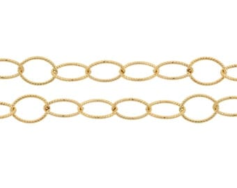 Jewelry Chain 14kt Gold Filled 8x6mm Oval Twisted Cable Chain - 5ft ( 2330-5)/1