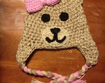 Cute Bear Hat with Bow