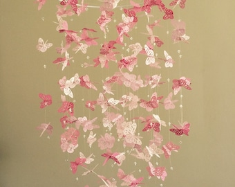 Bling - Bling Monarch Butterfly Chandelier   Mobile -Perfectly Pink