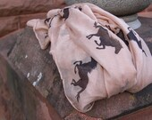 Horse Scarf- Tan