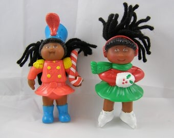 50% off clearance sale! Cabbage Patch Kids holiday McDonalds Happy Meal Toys, set of 2, ice skater and drum major