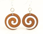 Spiral Blossoms - Wood Earrings