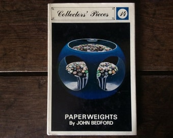 Vintage English book Paperweights by John Bedford book printed 1968 / English Shop