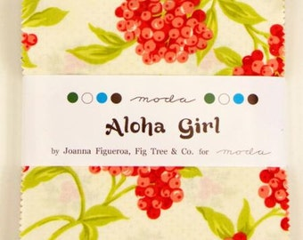 Aloha Girl  Charm Pack by Fig Tree Quilts for Moda