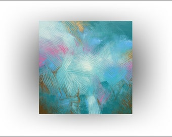 Abstract Original Painting Acrylic Pastel colors- 30 x 40 - Skye Taylor