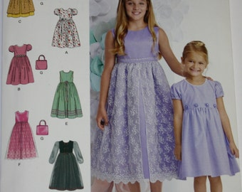 Simplicity Pattern  Girls Dress  Size 3 - 6