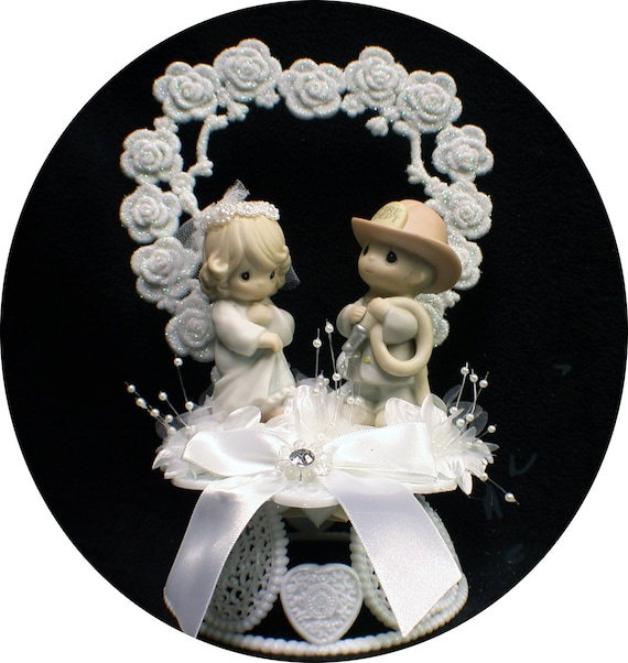 Precious Moments Adroable Firefighter Cake Topper Fireman