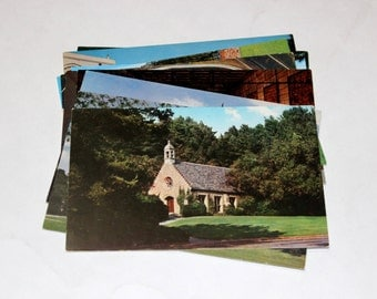 10 Vintage Forest Lawn Memorial Park Glendale California Chrome Unused Postcards - Wedding Guestbook
