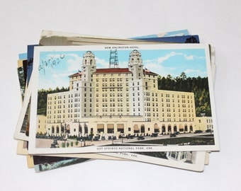 SALE - 22 Vintage Arkansas Postcards - DAMAGED