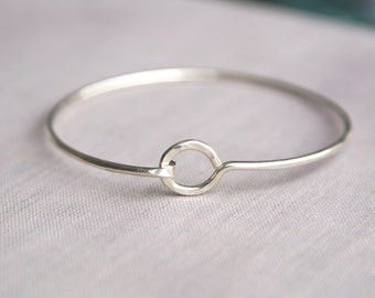 Full Circle Sterling Silver Bangle, Silver Bangle, Bangle Braclet, Silver Bangles, Sterling SIlver Bangles, Stacking, Balsamroot Jewelry