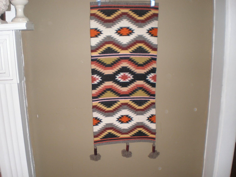 Hang Rug On Wall: Vintage Hand Woven Wool Wall Hanging Rug Runner