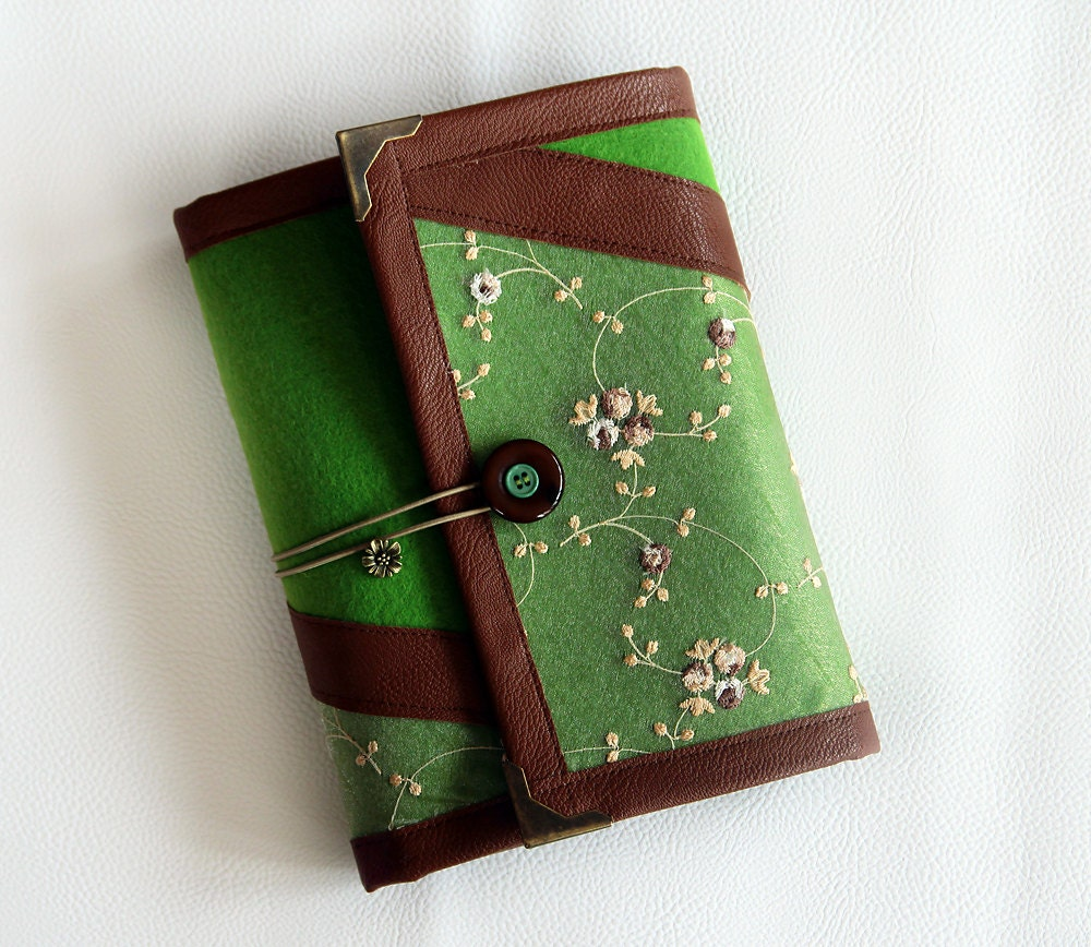 Lace Green Brown Ring Binder Agenda/ Organiser/ Day Planner/