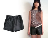 BLACK LEATHER SHORTS real leather / black shorts / leather shorts / lined lambskin Shmata short in all sizes