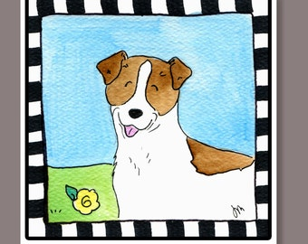 Jack Russell terrier wall tile 4x4 inches