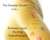 Sweater Repair , Knitting Mending , Sock Darning , Hole Repair Services