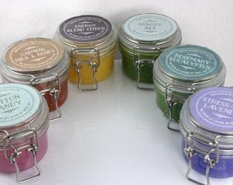 Sugar Scrub, ONE 5 OZ Jar, Your choice: Lavender, Oatmeal Milk and Honey, Rosemary Peppermint and Eucalyptus, Citrus Energy Blend