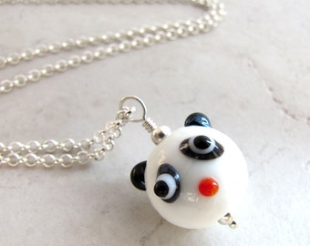Panda Necklace, Pandabear Necklace, Animal Necklace, Kawaii Necklace, Bear Necklace