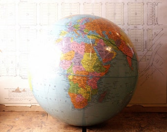 Vintage 12 inch Replogle Globe without a stand