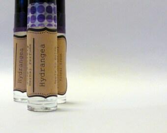 Herbal Perfume Oil---Hydrangea------Floral---Roll On Perfume Oil