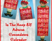 In the Hoop Advent Countdown Calendar Elf Embroidery Machine Design Set
