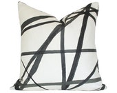 Channels Ebony & Ivory Pillow Cover (Single-Sided) - Made-to-Order