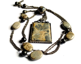 Jay Strongwater, Feinberg, NBW, Semi Precious Necklace, Vintage