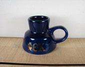 Vintage Dark Blue Phi Theta Kappa Ceramic Glazed Commuter Travel Mug / Cup No Spill Slip