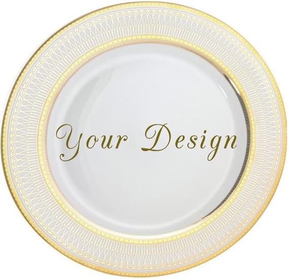 RESERVED - Custom Dinner Plate 10.5\   sc 1 st  WTF Porcelain & RESERVED - Custom Dinner Plate 10.5\