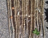10 knotty crocheted dreads custom order dreads dreadlocks hair extensions