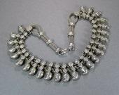 Silver India Necklace, Vintage Wedding Necklace, Mango Motif, Rajasthan, Banjara, Bollywood, Tribal, 925