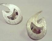 """Silver handmade earrings """"Spaces"""""""