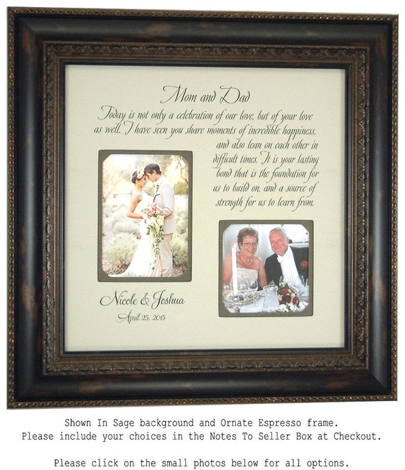 Special Wedding Gifts From Parents : Parents Wedding Gift, Personalized Wedding Picture Frame Bride Groom ...