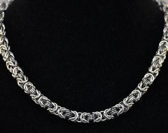 Aluminum/Iridescent Byzantine Necklace