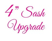 "4"" Sash Upgrade"
