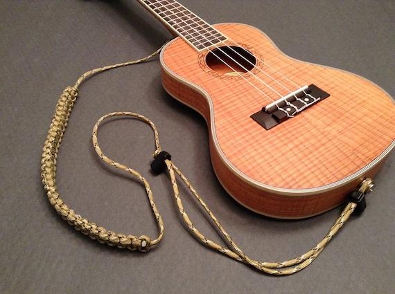 ukulele strap paracord fully adjustable desert camo