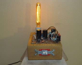 Launchpad Found Electronic Object Lamp 118 With Vintage Style Light Bulb  FP
