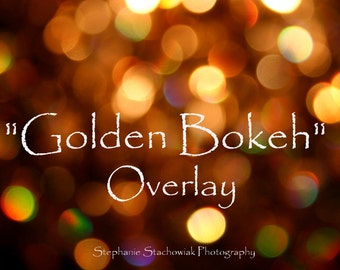 Bokeh Overlay, Textures, Layers, Gold, Instant Download, New Year Overlay, Gold Overlay, Christmas