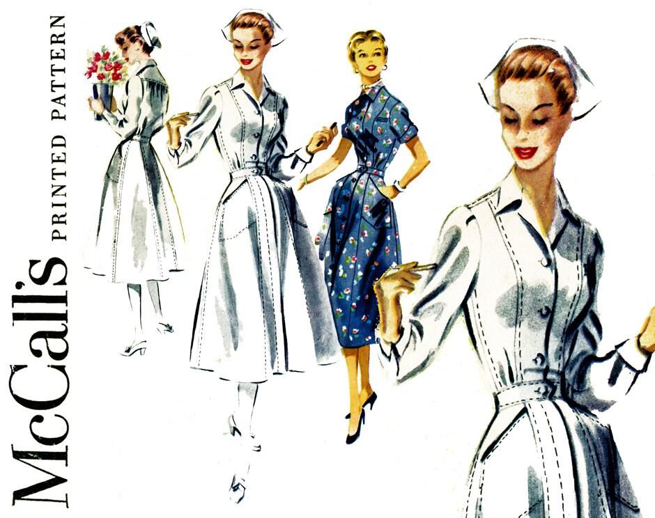 Diner Uniform Pattern 1950s Nurse Uniform Pattern