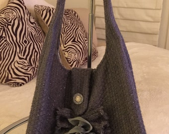 Gray, WOOL HOBO, fun and unique