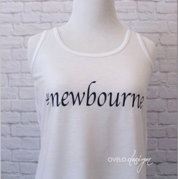 Hashtag Custom Personalized Bachelorette Party Tank Top for Bride Flowy Racerback Tank Printed in Navy