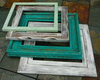 Frames / Set of 4 / French Cottage /  Wedding Decor / Home Decor