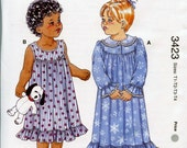 Sale - Kwik Sew Pattern - 3423 Toddlers' Nightgowns