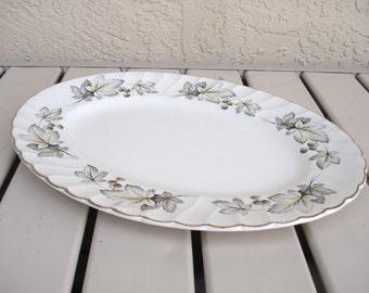 Staffordshire Aynsley And Co  England Maple Leaf Design Serving Platter.