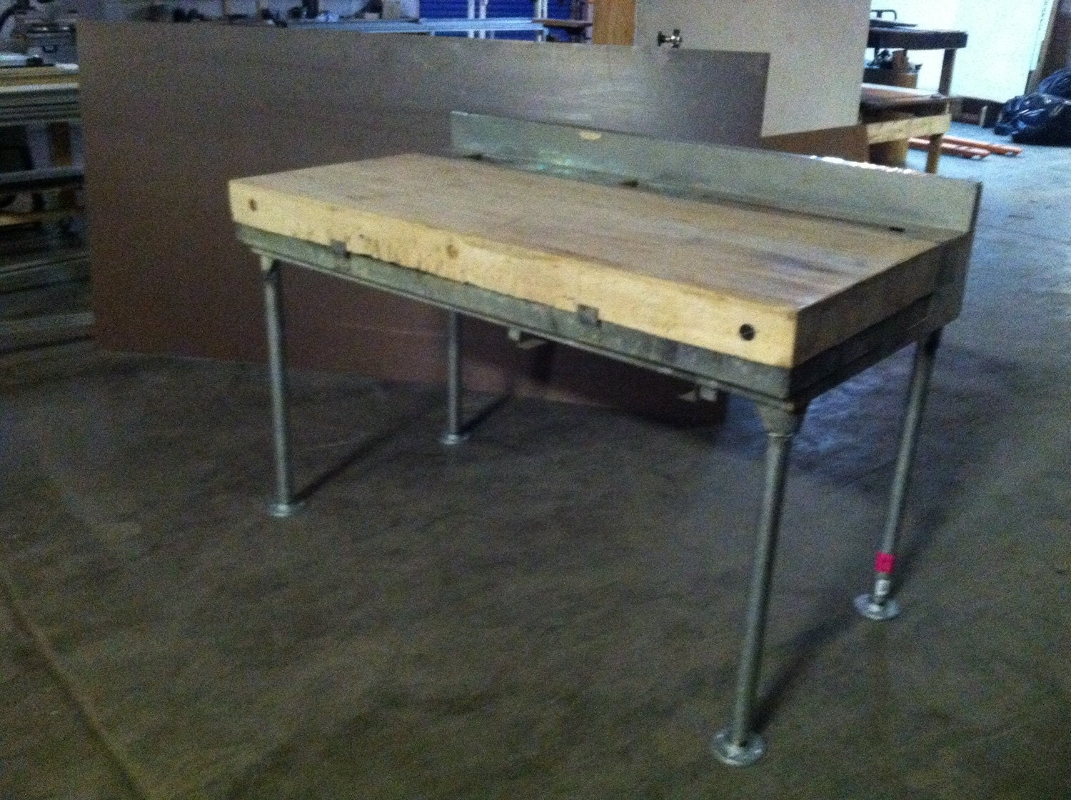 butcher block work table