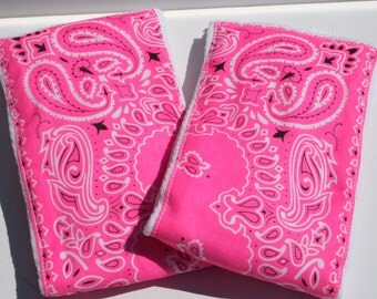 Burp Cloth/Burp Rag Baby Girl Cotton Diaper Hot Pink Bandana (1)
