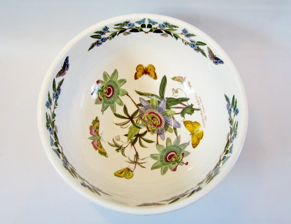 Vintage Portmeirion Botanic Garden Bowl Large Blue Passion