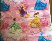 Disney princess princesses - 3 yards cotton woven FREE SHIPPING