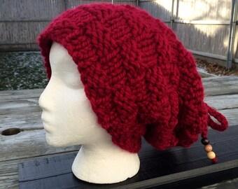 Slouchy Hat, Slouchy Beanie, Hand Knit Hat, Chunky Beanie, or Neckwarm